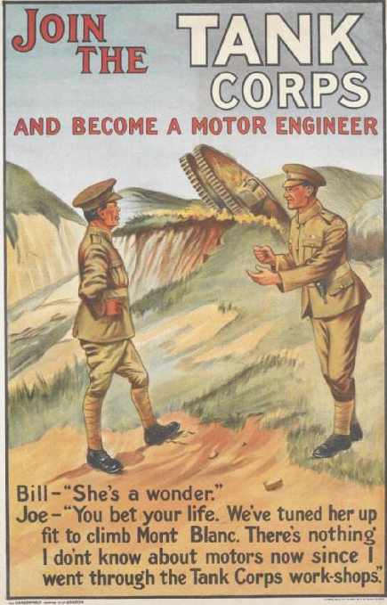 Join the Tank Corps - 1919 recruiting poster (c) IWM